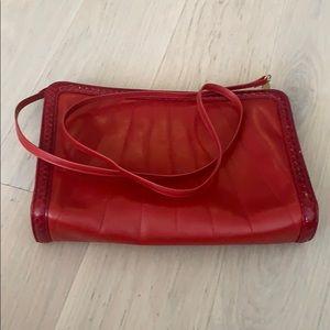Vintage Salvatore Ferragamo red leather purse